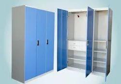 Regal MS Steel 3 Door Wardrobe, Features: With Locker And Drawer
