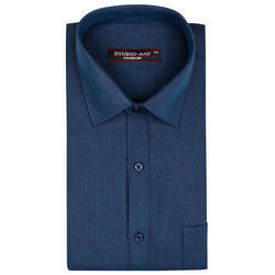 Premium Light Navy Blue Shed Formal Shirt