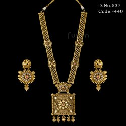 Antique Polki Kundan Long Necklace Set