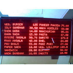 Menu LED Display Board
