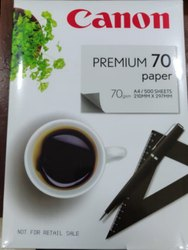 Natural White Canon A4 Premum 70 gsm, Packaging Size: 500 Sheets Per Pack