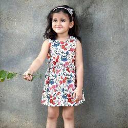 Kids Piccolo Printed Cotton Dress