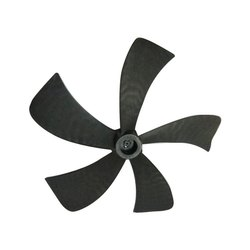 Black Plastic Exhaust Fan Blade, Number Of Blades: 5, Thickness: 4 Mm