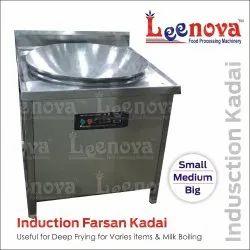 Leenova Ss Induction Farsan Kadai, Capacity: 4L, Size: 15-18