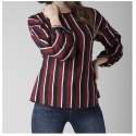 Women Maroon & Navy Striped Top