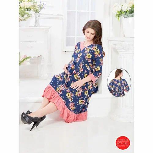 a9f7925826898 M Rayon Long Length Feeding Gown, Rs 1499 /piece, Shubh Shri ...