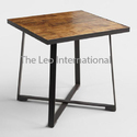 American Design Metal And Wood Table Square Shape