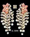 Meenakari Kundan Hand Painted Pearl Custom Jewelry Manufacturers Earrings Set