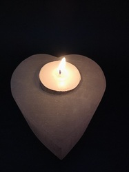 Heart Shaped Selenite Candle Holder