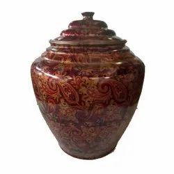 Round Printed 12 L Copper Water Vessels