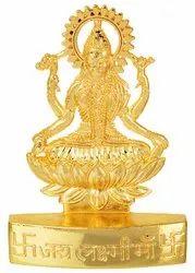 Kesar Zems Golden Plated Goddess Laxmi-Lakshmi Idol Statue Gift Items Showpiece