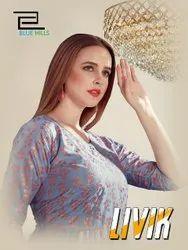 Livika Vol-1 Anarkali With Gold Printed Cotton Stylish Kurtis Collection