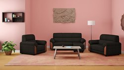Dark Brown Modern L Shaped Sofa, For Home, Size: Contemporary