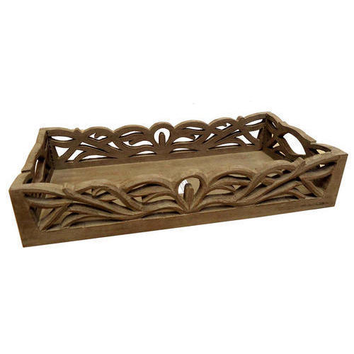 d276795b8726 Rectangular Handcrafted Wooden Serving Tray, Rs 2500 /piece | ID ...