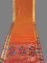 Designer Golden Zari Work Peacock Silk Saree