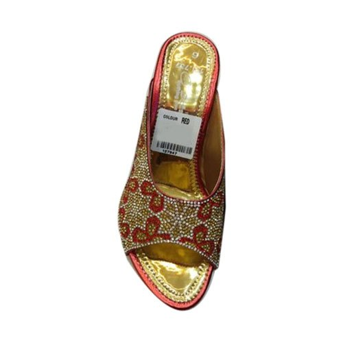 eed251f0cbf95 Kusum Collection Wedges Ladies Fancy Party Wear Heel Slipper, Size ...
