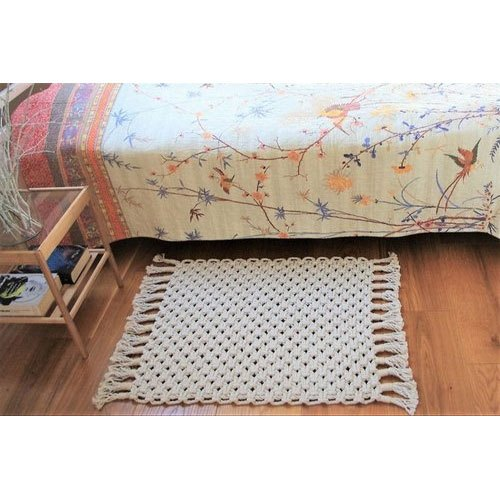 White Cotton Rope Floor Rug