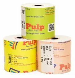 PULP Dot Matrix Paper Roll Width:57mm Dia:60mm 1Ply