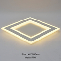 Surface Mounted Rectangle Modern LED Ceiling Chandelier Living Room Dining Room Bedroom Ultra-Thin