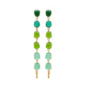 925 Sterling Silver Rain Drop Multi Hydro Egg Shape Gold Plated Gemstone Earrings