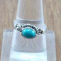 HANDMADE 925 STERLING SILVER JEWELRY TURQUOISE GEMSTONE RING WR-5046