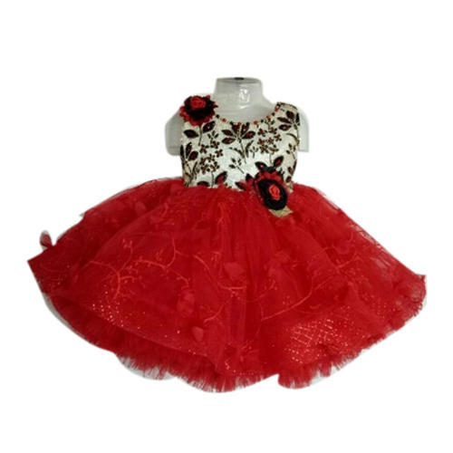 ded2269448ec Cotton Party Wear Baby Red Frock, Size: 22, Rs 700 /piece   ID ...