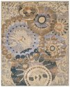 Contemporary Design Oxidized Wool, Viscose Brown Rug