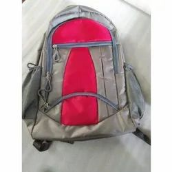 Grey-Red College Bag