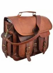 Brown Office Leather bags 11H
