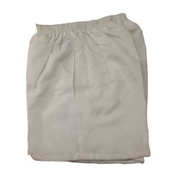 Off White Cotton Boys School Shorts