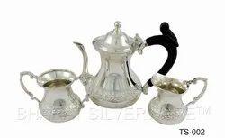 Pure Silver Handmade Tea Set
