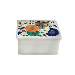 Marble Box With Flower Design