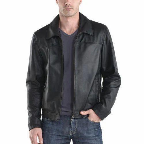 Black Full Sleeve Men Winter Leather Jacket Rs 3500 Piece Id