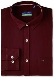 Indigo Nation Maroon men's formal shirt - 1pc