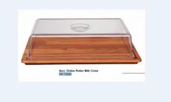 Rect. Timber Platter With Cover