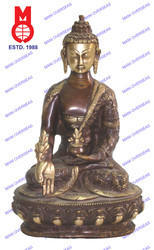 Lord Buddha Sitting with History Statue