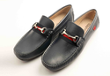Careeno Callisto Men's Navy Blue Leather Formals Shoe