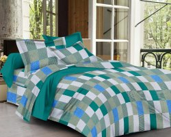 Bedsheets for Double Bed Checked Design