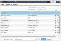 Multiple Leave Schemes Payroll Software