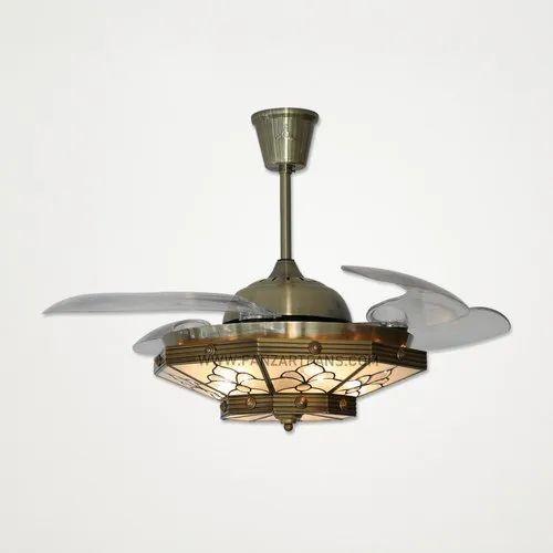 Antique Br Electricity Fanzart Monalisa Modern High Tech Ceiling Fan