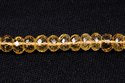Citrine Hydro Faceted Roundel Beads