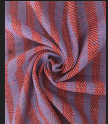 Red Cotton Fabric- Stripes