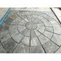 Black Garden Circle Stone