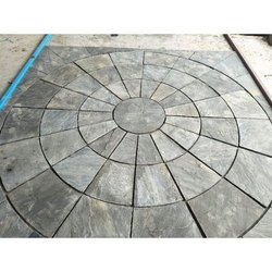 Grey Black Garden Circle Stone, For Flooring