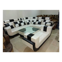 Wood Luxury 5 Seater C Shape Sofa For Hotel