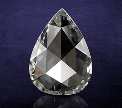 Natural Pear Shape Rose Cut Diamond