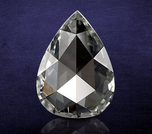 Natural Pear Shape Rose Cut Diamond