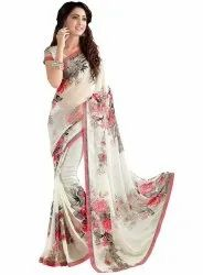 Ligalz Presents Semi Chiffon Saree With Blouse