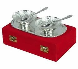 Rawsome Shack Silver Plated Bowl Set Wedding Gift
