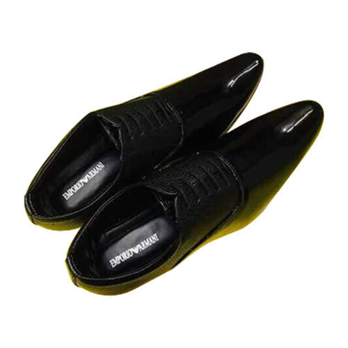 Armani Black Men's Formal Shoes, Rs